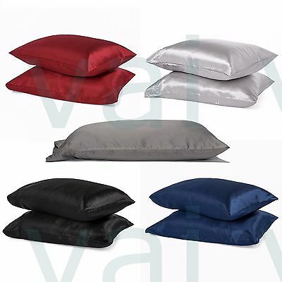 Satin Silk Pillowcases For Hair And Facial Care 2Pc 100% Polyester