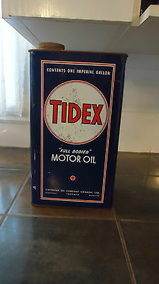 vintage Tidex Motor Oil Can  1 gallon TIDEWATER OIL COMPANY