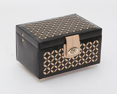 Wolf 301102 Chloé Small Black Patterned Leather Jewelry Box