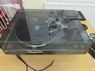 Vintage Itt Seperate Hifi 8014 Semi-Automatic Belt Drive Turntable Working Order
