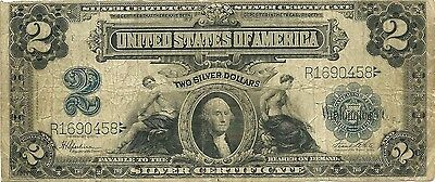 1899 $2 Silver Certificate~ Washington In Cameo Type ~ Estate Fresh Priced Right