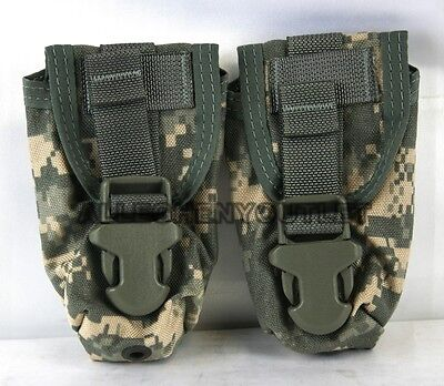 Lot of 2 US Military Army ACU Flashbang Flash Bang Grenade Ammo Pouch MOLLE USGI