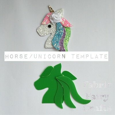 Horse Or Unicorn Animal Clear Plastic Template To Make Your Own For Hair Clips
