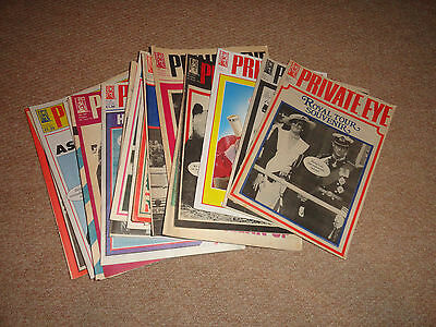 Private Eye Magazine Collection - 100x random issues, 1970's - 2000's job lot