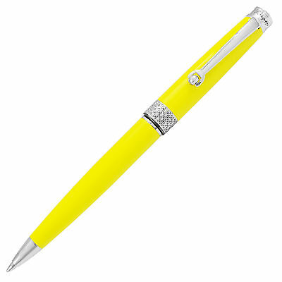 Montegrappa Piacere Chrome Electric Yellow Ballpoint Pen ISPYRBBY Italian Made