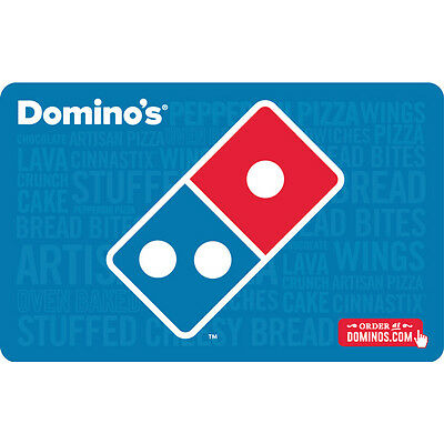 $25 Domino's Physical Gift Card - Standard 1st Class Mail Delivery