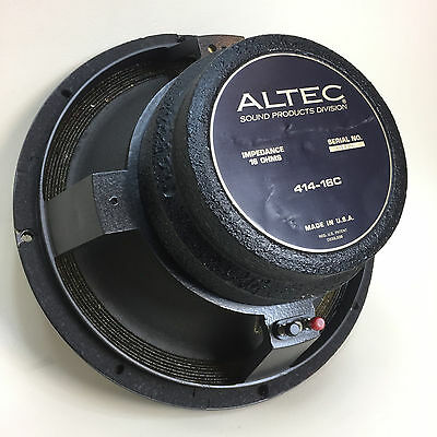 "Vintage Altec 414-16C 12"" 16-ohm LF Speaker / Woofer - Very Clean & Tested 01426"