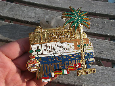 vintage 64th. RALLYE MONTE CARLO 1996 - AUTOMOBILE CLUB MONACO CAR GRILLE BADGE