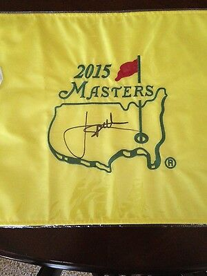 Jordan Spieth signed 2015 Masters pin flag JSA authenticated