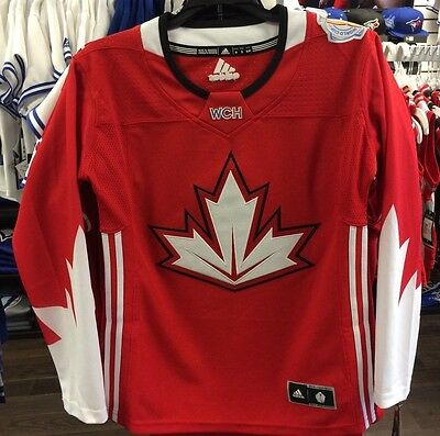 2016 World Cup of Hockey Team Canada Adidas Jersey Replica Size Large Red