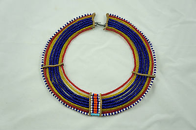 Vintage Maasai wedding necklace, handmade / beaded African