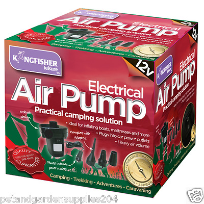 12V Electric Air Pump - Camping Accessories = Outdoors = Air Bed Pump = Portable