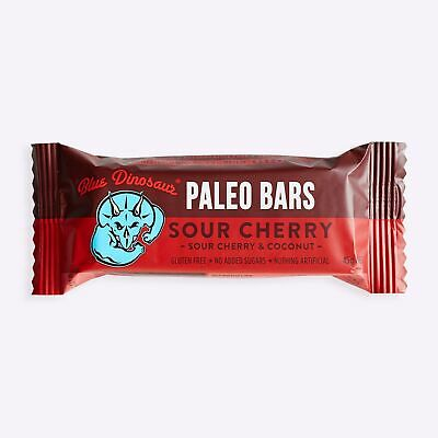 New Blue Dinosaur Paleo Bars - Sour Cherry - 45g from The WOD Life