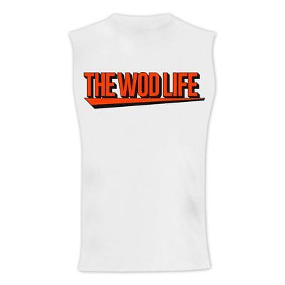 New TWL Unisex New Banner Muscle Tank - White/Orange from The WOD Life
