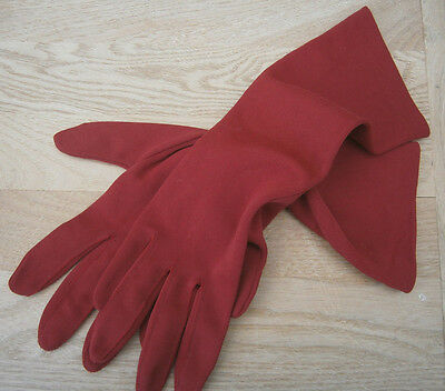 VINTAGE 1960s KAYSER RED THREE QUARTER LENGTH GLOVES WEDDING PARTY