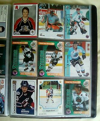Album containing 90 cards of former SHEFFIELD STEELERS players.
