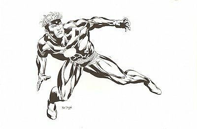 Havok - Hasbro Toy Design Piece - Signed art by Mike Deodato Jr.