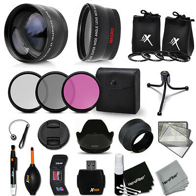 52mm Lens Accessory Kit for Nikon D6100 w/ Wide + 2X Lenses + Filter Kit + MORE