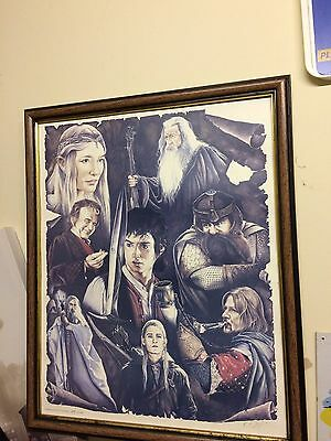 lord of the rings limited edition framed picture 149/600