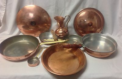 Junk Drawer - Copper Pans And Small Jug