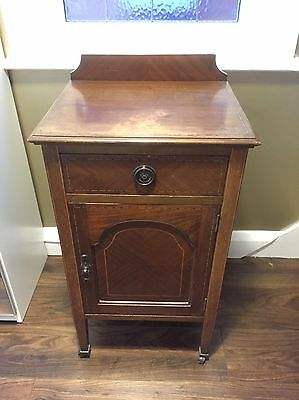 Antique Side Cabinet With Drawer And Cupboard