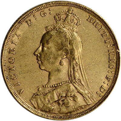 Great Britain Gold Sovereign (.2354 oz) - Victoria Jubilee Avg Circ Random Date