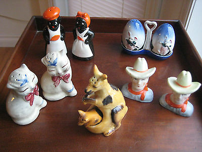 Occupied Japan Salt And Pepper Shakers    5 Pairs Vintage