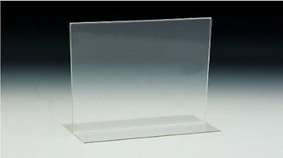 "11""x8.5"" Bottom Load Table Tent / Sign Holder, Pack of 20"