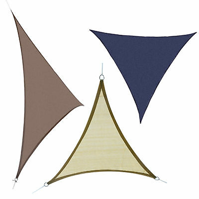 Triangle 18' Sun Sail Shade Patio Lawn Shelter Canopy Outdoor Party Event Cover