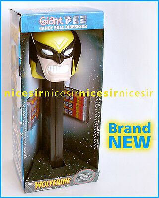 """Pez Giant 12"""" Marvel Wolverine Sound Effect Candy Dispenser Collection Item Toy"""