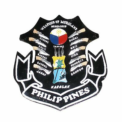 Filipino Plaque Weapons of Philippines Moroland Mindanao Kali Escrima Arnis SMAL