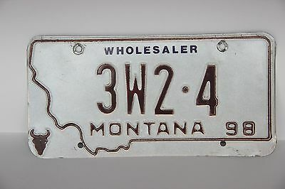 1998 Montana License Plate Wholesaler special plate