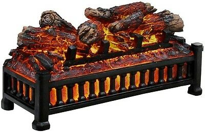 """Electric Fireplace Insert Heater Logs 20"""" Realistic Crackling Look Feel Decor"""