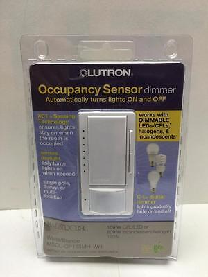 Lutron Maestro Mscl-Op153Mh-Wh  Led Dimmer/occupancy Sensor 150W New