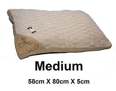 Medium Washable Pet Dog Puppy Cat Bed Soft Warm Basket Pillow Cushion C- Beige