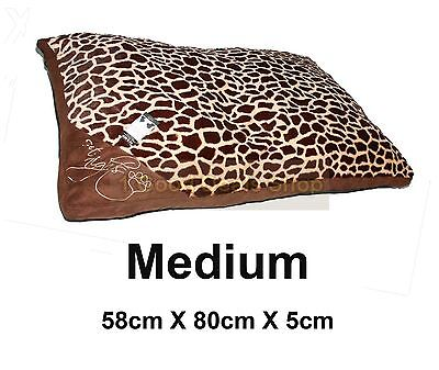 Medium  Washable Pet Dog Puppy Cat Bed Soft Warm Basket Pillow Cushion Tiger