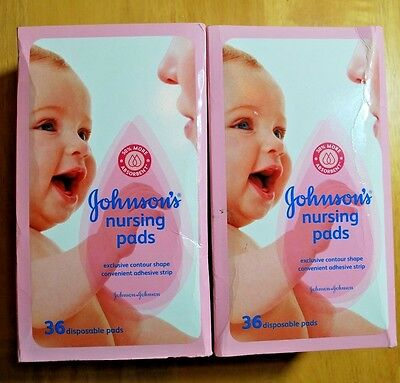 JOHNSON'S Nursing Pads 36 Each (Lot of 2) - 72 Total Count  -  Free Shipping !
