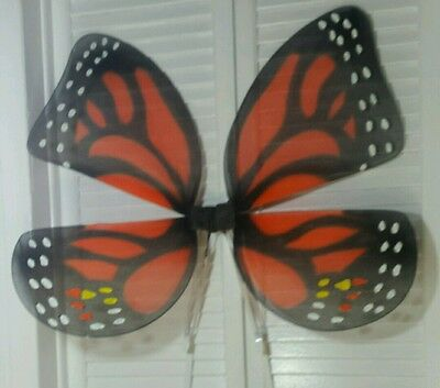 Size M-L new vintage fairy Monarch butterfly wings unisex costume Halloween