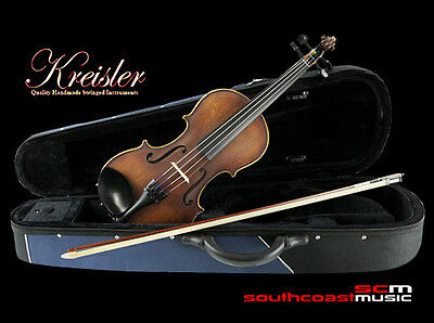 Kreisler 4/4 Violin Outfit With Case, Bow & Rosin Superior Instrument Real Value