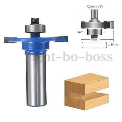 1/2'' Shank Biscuit Joiner Cutter Router Bit W/ Bearing Woodworking Cutter Tool