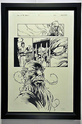 David Finch Original Signed Art (Tales of Darkness, issue #5, page 22) Framed.