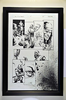 David Finch Original Signed Art (Tales of Darkness, issue #5, page 15) Framed.