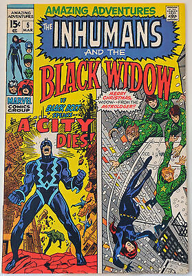 Amazing Adventures #5 (1971) First Neal Adams Inhumans work, VF range.