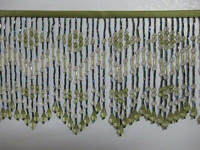 "5 To 5.5 ""Long- Beaded- Fringe- Trim- Excellent-Quality"