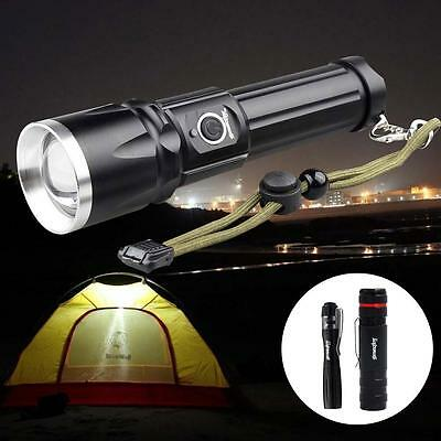 Skywolfeye 8000 LM Zoomable CREE XM-L T6 LED Lampe Torche Rechargeable 18650 DC