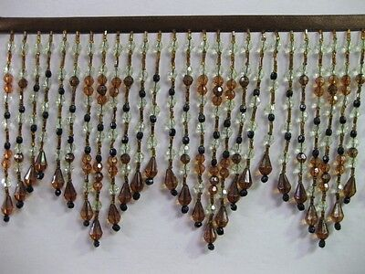 "LONG BEADED FRINGE TRIM 5 TO 5.5 "" color number #19"