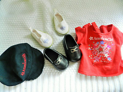 American girl doll clothing ,cap and shoes,very nice condition