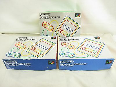 WHOLESALE Super Famicom Boxed Lot 3 Console Working tested FREE Shipping 2140