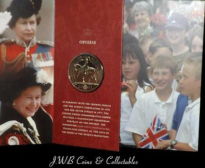 2002 Queen Elizabeth II Golden Jubilee Crown / £5 Five Pound Coin - Ref ; T & H