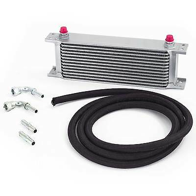 Universal Automatic Transmission/Gearbox Oil Cooler Kit - 235mm 10 Row 8mm Hose